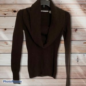 🍒AUTUMN CASHMERE BROWN SWEATER SIZE XS